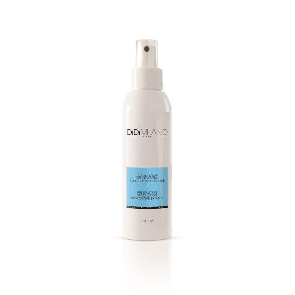 Lozione spray pre-epilazione all'estratto di cotone